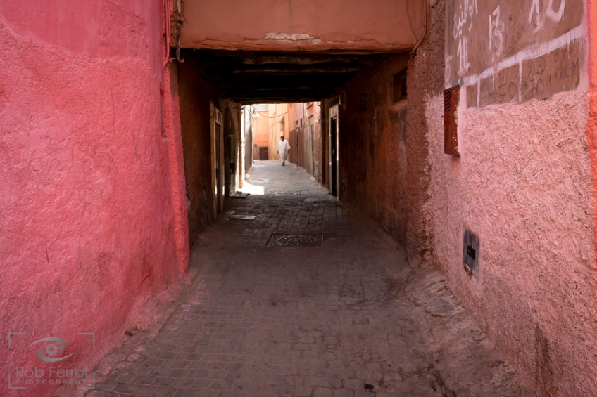 The maze of alleyways in the Medina & Souk, Marrakech, Morocco.